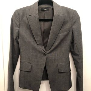 Theory wool blend fitted blazer